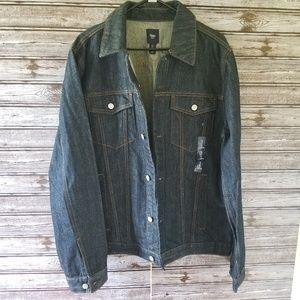 NWT Men's Gap Dark Denim Jean Jacket Size XL